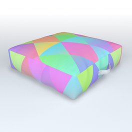 Colorful Geometric Pattern Prism Holographic Foil Triangle Texture Outdoor Floor Cushion