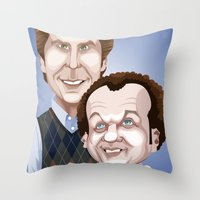 will ferrell Throw Pillows featuring Step Brothers by Leo Maia