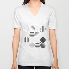 A pop of black and white Unisex V-Neck