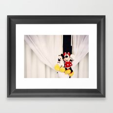 Mickey and Minnie Mouse Framed Art Print