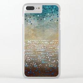 Landscape Dots - Turquoise Clear iPhone Case