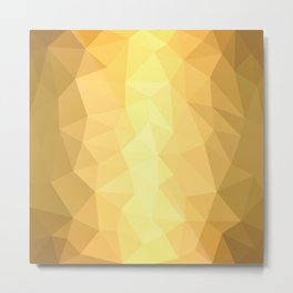 Metallic Geometry Metal Print