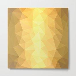 Metallic Geometry Metal Print