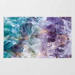 Quartz Stone - Blue and Purple Rug