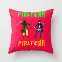 pirates Throw Pillows featuring Pirates!!! by Michael Keene