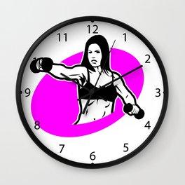 woman  fitness logo Wall Clock