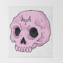 Witchy Skull Throw Blanket