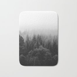 Forest, Black and White Bath Mat