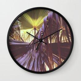 Tropical leaves, Spain. Wall Clock