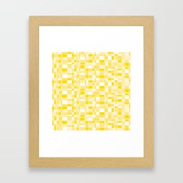 Mod Gingham - Yellow Framed Art Print
