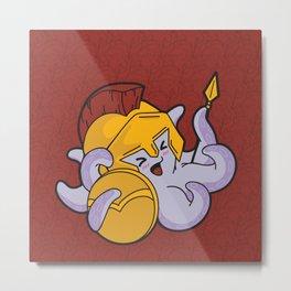 Spartan Octopus Metal Print