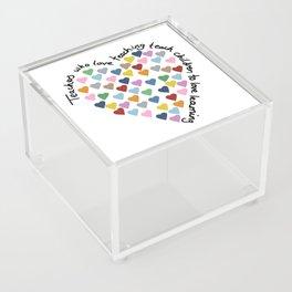Hearts Heart Teacher Acrylic Box