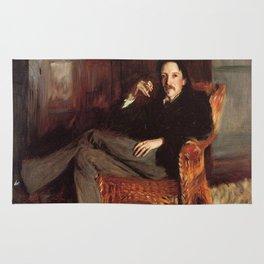 Vintage Painting of Robert Louis Stevenson (1887) Rug