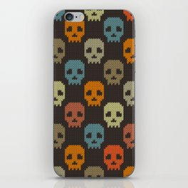 Knitted skull pattern - colorful iPhone Skin
