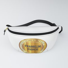 Franklin Pierce Gold Metal Stamp Fanny Pack