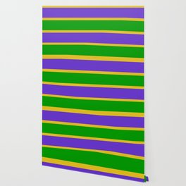 Mardi Gras Stripes Wallpaper