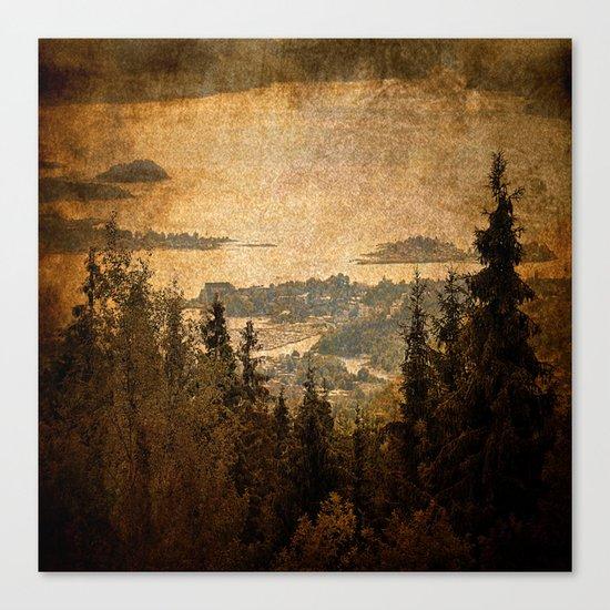 vintage forest landscape Canvas Print