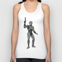 robocop Tank Tops featuring Robocop by James White