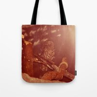 the who Tote Bags featuring who. by Rae Snyder