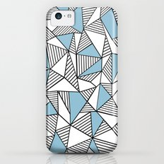Abstraction Lines Sky Blue Slim Case iPhone 5c