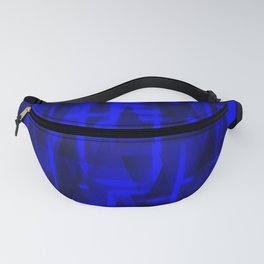 Bright dark blue highlights on marine triangles and metal stripes. Fanny Pack