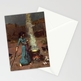 John William Waterhouse - The Magic Circle Stationery Cards
