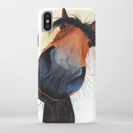 Happy Horse ' HAPPY DAVE ' by Shirley MacArthur iPhone Case