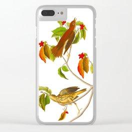 Wood Thrush Bird Clear iPhone Case