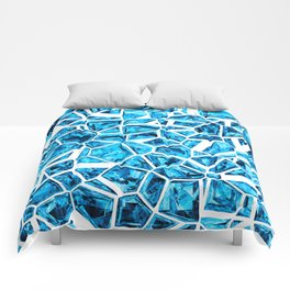 Shattered Abstract Crystals Comforters
