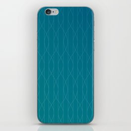 Wave pattern in teal iPhone Skin