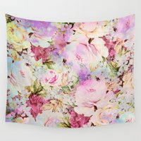 romance Wall Tapestries featuring floral romance by clemm