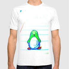 Radioactive Penguin Mens Fitted Tee White MEDIUM
