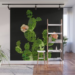 weird cactus black version Wall Mural