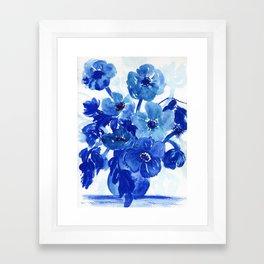 blue stillife Framed Art Print
