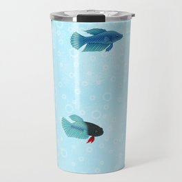 betta splendens royal blue male Travel Mug