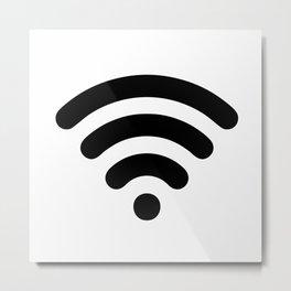 Wi-Fi Pattern Metal Print