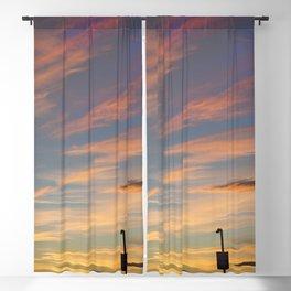 Scarlet Sunset Blackout Curtain