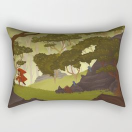 Little Red and the Wolf Rectangular Pillow