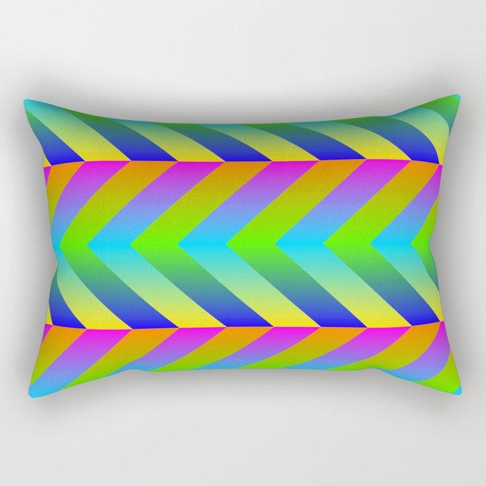 Colorful Gradients Rectangular Pillow