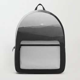 Sun on the Hill (Black and White) Backpack