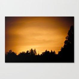 Burning sky I Canvas Print