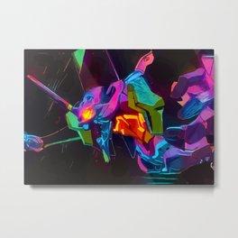 neon eva 01 Metal Print