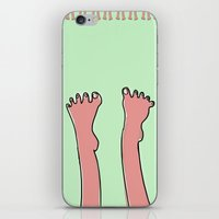 feet iPhone & iPod Skins featuring feet  by oyku cataltepe