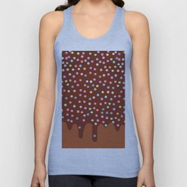 Dripping Melted chocolate Glaze with sprinkles Unisex Tank Top