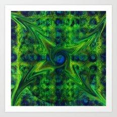 Cosmic Pinwheel Art Print