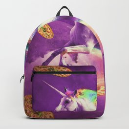 Space Sloth Riding On Flying Unicorn With Pizza Backpack
