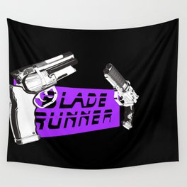 Time to die Version Neon Purple Wall Tapestry