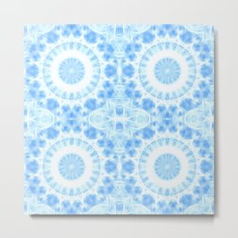 Peaceful blue mandala Metal Print