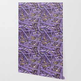 PURPLE KINDLING AND GLOWING EMBERS ABSTRACT Wallpaper