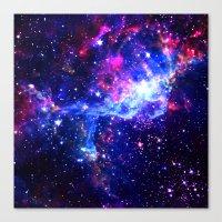 galaxy Canvas Prints featuring Galaxy by Matt Borchert
